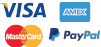 Visa, Paypal, Mastercard, American Express payment methods