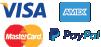 Visa, Paypal, Mastercard, American Express payment methods